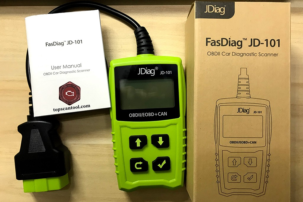 JDiag JD101 obd2 code reader tool review