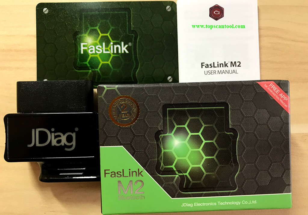 JDiag Faslink M2 OBD2 Scanner for iOS Android Reviews - TopScanTool